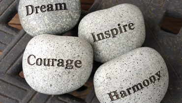 Self belief - stones with inspiring words